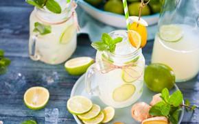 Picture lemon, lime, banks, lemonade