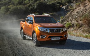 Picture road, Nissan, gravel, pickup, Navara, 2015, NP300