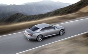 Picture road, Concept, Audi, coupe, speed, Coupe, 2014, Prologue