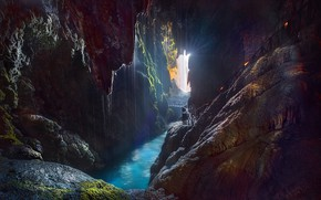 Picture nature, mountain, the grotto, Monastery of Stone, Nuévalos, Grotto Iris and waterfall ponytail, Zaragoza.