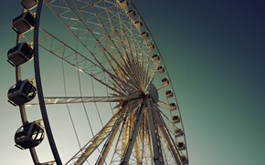 Picture the sky, the city, Park, wheel
