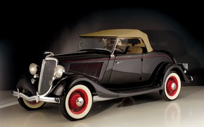 Picture auto, old, retro, Ford, 1934, V8, Deluxe Roadster