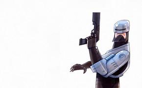 Picture Minimalism, Figure, Robot, Gun, Background, Art, Art, The film, Robocop, Cyborg, Robocop, Minimalism, Characters, Digital …