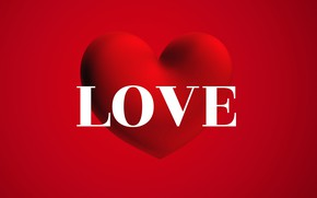 Picture love, heart, the word, Valentine's Day