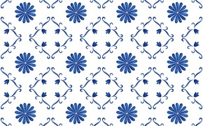 Picture flowers, blue, pattern, texture, white background