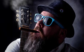 Picture Blues, cigars, guitars
