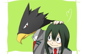 Picture girl, guy, Boku No Hero Academy, My Hero Academy, The Tsui Usui, Foliage Tamiami