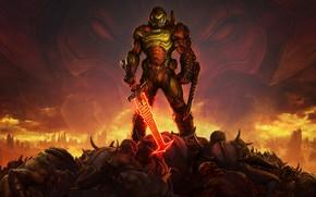 Picture soldiers, armor, DOOM Eternal
