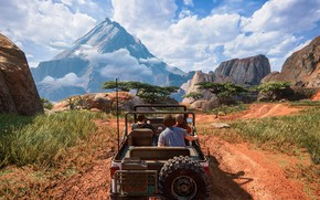 Picture machine, mountains, people, Uncharted: The Lost Legacy