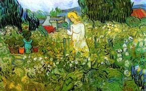 Picture Vincent van Gogh, Marguerite Gachet, in the Garden