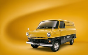 Picture ford, yellow, transit