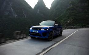 Picture mountains, Land Rover, Range Rover, Range Rover Sport, 2018, SVR, V8, 575 HP, 5.0 L., …