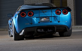Picture Corvette, ZR1, Ass, Blue