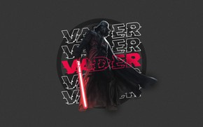Picture Star Wars, Darth Vader, fantasy, minimalism, science fiction, sci-fi, movie, digital art, film, lightsaber, artwork, …