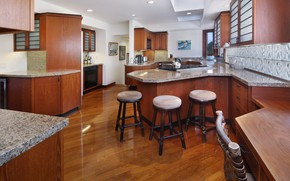 Picture photo, table, chairs, kitchen