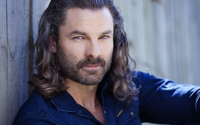 Picture look, beard, long hair, Guy Williams