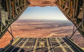 Picture The sky, Horizon, Desert, Lockheed C-130 Hercules, C-130 Hercules, HESJA Air-Art Photography, Ramp, The air …