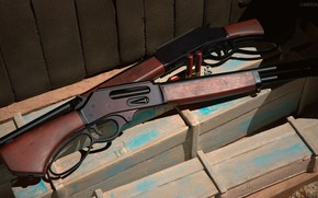 Picture weapons, gun, shotgun, weapon, render, shotgun, marlin, Marlin