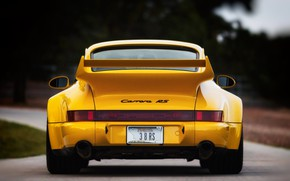 Picture Auto, Yellow, 911, Porsche, Machine, Porsche 911, Carrera, 1993, Porsche 911 Carrera, 911 Carrera RS, …