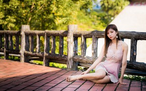 Picture girl, dress, Asian