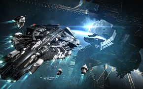 Picture space, planet, station, space, the carrier, spaceship, station, eve online, space ship, coooper
