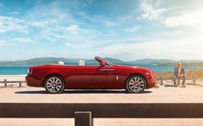 Picture Red, Convertible, Rolls Royce, Dawn, Africa, South, Rolls Royce, Rolls Royce Dawn