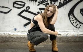 Picture look, girl, pose, hair, Rebekka Weigand