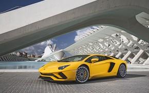 Picture yellow, Lamborghini, Lamborghini, Aventador, Lamborghini Aventador S