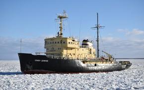 Picture ship, icebreaker, Semyon Dezhnev