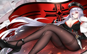 Picture girl, sitting, Azur Lane