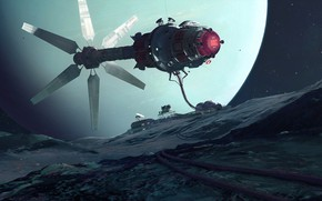 Picture space, Art, Station, Uranus, Science Fiction