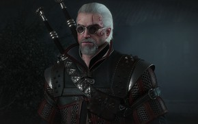 Picture armor, glasses, armor, swords, the Witcher, Geralt, hunter, the protagonist, The Witcher 3 Wild Hunt, …
