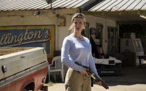 Picture look, hair, Crystal, Hunting, The Hunt, Betty Gilpin, Betty Gilpin