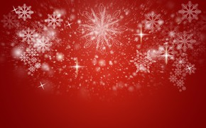 Picture snowflakes, background, New Year, Christmas, stars