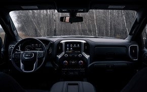 Picture interior, pickup, 2018, GMC, Sierra, Crew Cab, 2019, Elevation