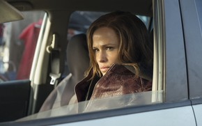 Picture auto, look, pose, hair, hair, look, pose, in the car, Jennifer Garner, Jennifer Garner, Purple …