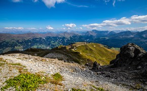 Picture clouds, mountains, Switzerland, Alps