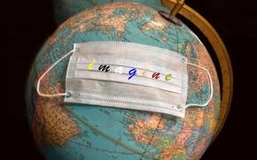 Picture mask, globe, Imagine