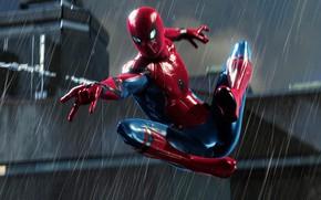 Picture Rain, Spider Man, PS4, Playstation 4 Pro, Marvel's Spider-Man