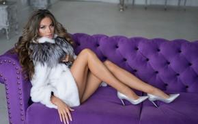 Wallpaper girl, sexy, model, legs, Lily Kapitonova, Alexander Plonsky
