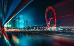 Picture light, the city, lights, speed, excerpt
