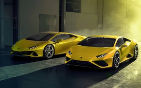 Picture Lamborghini, pair, Huracan, 2020, RWD, Huracan Evo