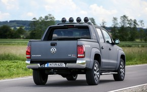 Picture Volkswagen, pickup, Amarok, Double Cab, on the road, 2016, Aventura