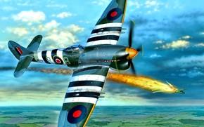 Picture Tempest, Hawker Tempest Mk.V, Multi-role fighter, Early model, 4x20 mm Hispano gun Mk.II