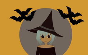 Picture background, Halloween, witch