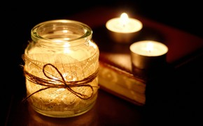 Picture night, candles, Bank