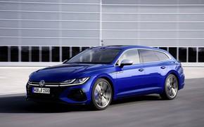 Picture blue, wall, Volkswagen, universal, Shooting Brake, 2020, Arteon, Shooting Brake R, Arteon R