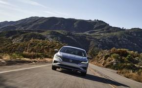 Picture road, Volkswagen, sedan, front, Passat, 2020, 2019, US Version
