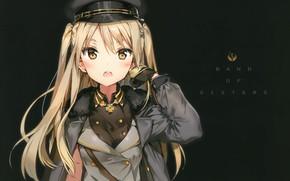 Picture cap, military uniform, Houkago no Pleiades, houkago in the pleiades, nanako, by Anmi