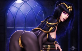 Picture ass, chest, look, girl, pose, beauty, beauty, ass, tharja